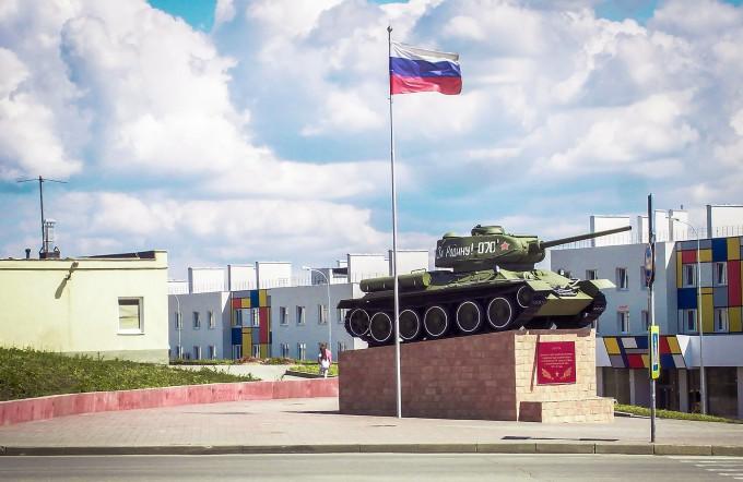 Памятник танку Т-34-85 в Самаре